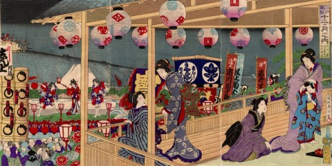 Customs of Edo for the Twelve Months/November: Kabuki  Sightseeing