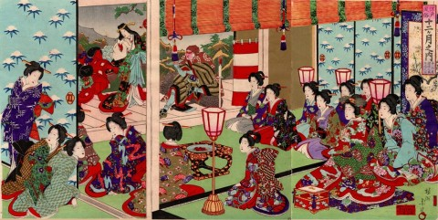 Customs of Edo for the Twelve Months/December:Bonenkai