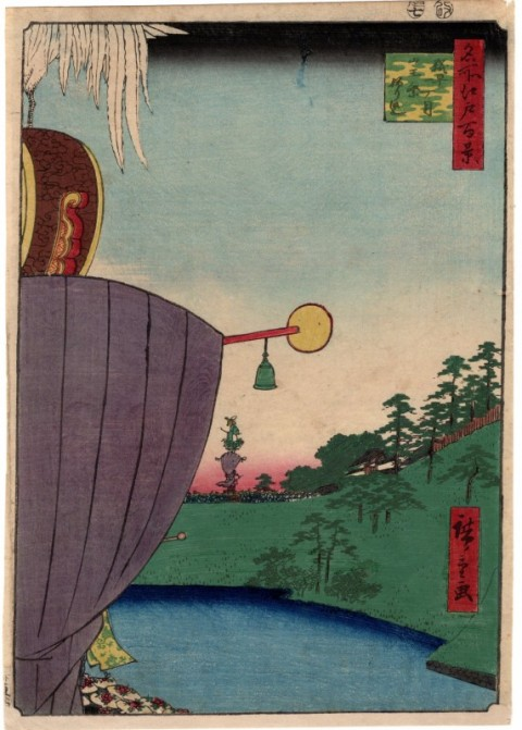 One hundred famous views of Edo,Kojimachi Icchome