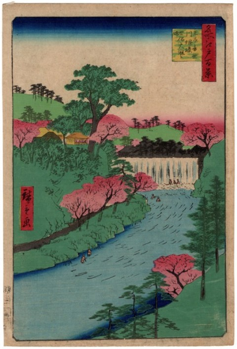 One hundred famous views of Edo,Oji otonashigawa