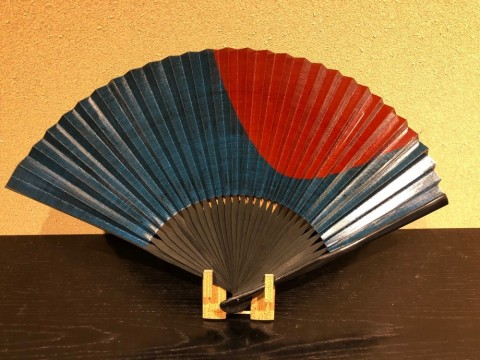 Fan,Persimmon astringent painting (Red)