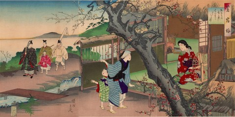 Plum tree in the hut of Uguise