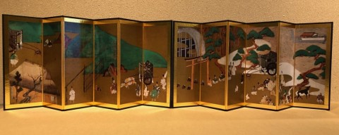 Reduction folding screen, The tale of Genji
