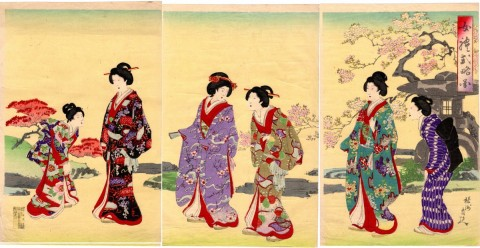 Lady's ceremony, three pieces