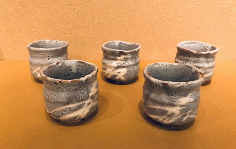 Mino ware Shino teacup